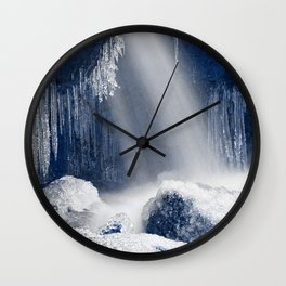 Stream of Blue Frozen Hope Wall Clock