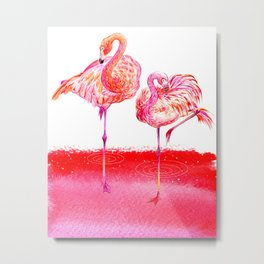 Flamingo_Lover Metal Print