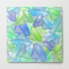 Placer precious stones, yellow , green , blue . Metal Print
