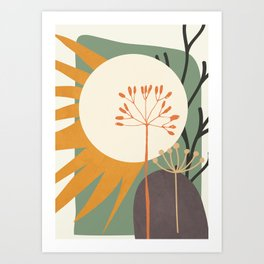 Abstract Plant 03 Art Print