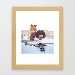 Carmencita & Nippy Blythe doll by Erregiro Framed Art Print