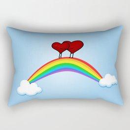 Love on rainbow Rectangular Pillow