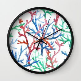 Sea Life Pattern 03 Wall Clock