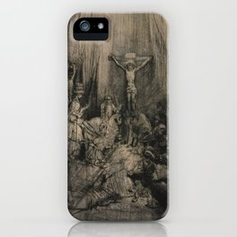 Rembrandt - The Three Crosses (1655) iPhone Case