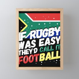 South African Rugby - Funny Rugby Player Gift Framed Mini Art Print