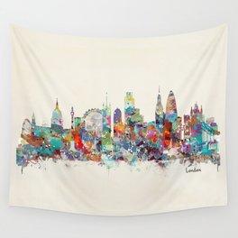 london city skyline Wall Tapestry