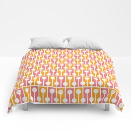 Geometric Pattern 192 (pink orange) Comforters