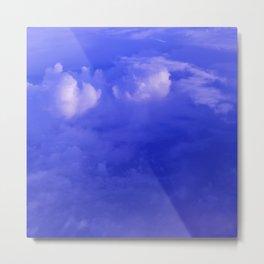Aerial Blue Hues II Metal Print