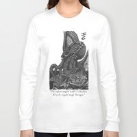 cthulhu Long Sleeve T-shirts featuring Cthulhu by IG Design