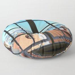 Through The Window Floor Pillow