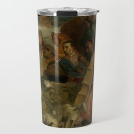 """Eugène Delacroix """"Musicians, after Veronese, a detail from The Marriage at Cana"""" Travel Mug"""
