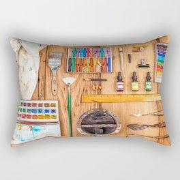 The Artist's Tools Rectangular Pillow