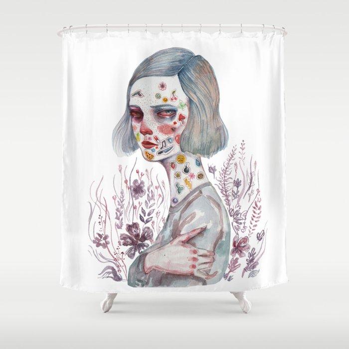 Murder Shower Curtain By Voxceleste