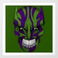 Green eyed Monster (Model 4) Art Print