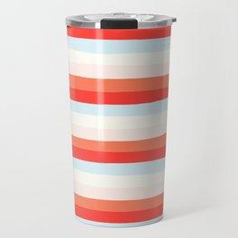 lumpy or bumpy lines abstract and colorful - QAB266 Travel Mug