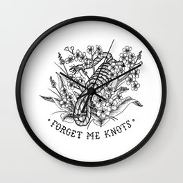 forget me knots Wall Clock