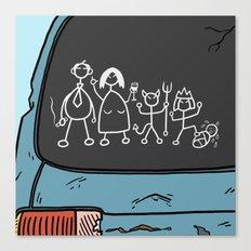 Honest Stick Figure Family Canvas Print