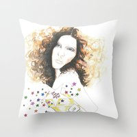 sparkle Throw Pillows featuring sparkle by jollypot
