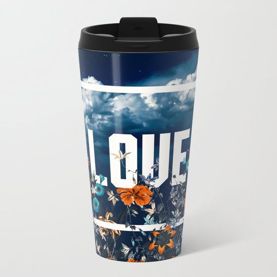 LOVE Metal Travel Mug