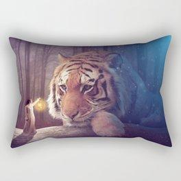 Big cat Rectangular Pillow