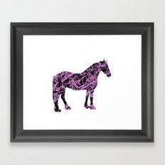 Friesian Scribble Framed Art Print