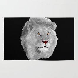 Albino Lion Rug