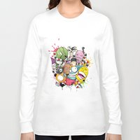 doodle Long Sleeve T-shirts featuring Doodle by Flavio Augusto Maidl
