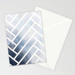 winter herringbone Stationery Cards