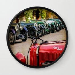 Vintage Aston Martins.  Wall Clock