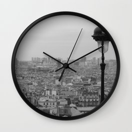 Paris City Scape Wall Clock