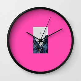 turn me on pink Wall Clock