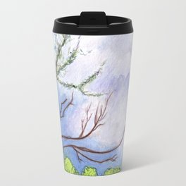 Landscape Mixed Media Painting Travel Mug