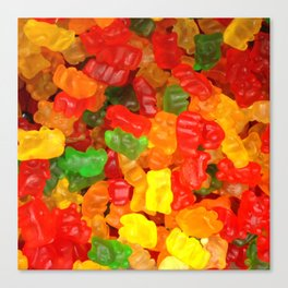 red orange yellow colorful gummy bear Canvas Print