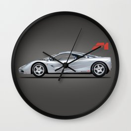 The F1 Supercar Wall Clock