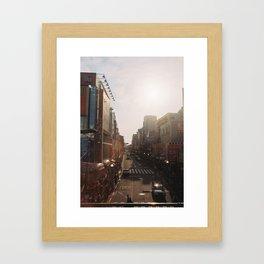Golden Tokyo Framed Art Print