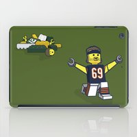 jared leto iPad Cases featuring Bears Bricked: Jared Allen by CheekyMonkeyArt