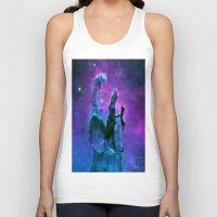 nebula Tank Tops featuring Nebula Purple Blue Pink by 2sweet4words Designs