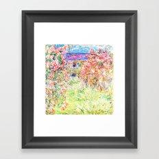 MONET : The House Among the Roses Framed Art Print