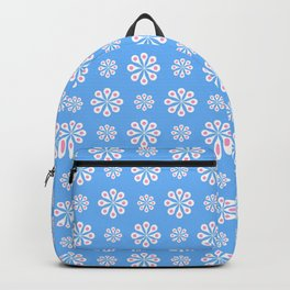 geometric flower 60 blue and pink Backpack