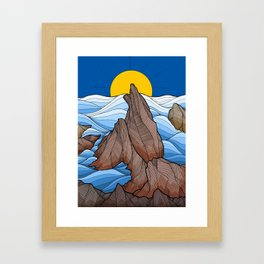 The rocky sea cliffs Framed Art Print