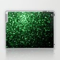 Glamour Dark Green glitter sparkles by pldesign