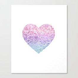 Unicorn Girls Glitter Heart #1 #shiny #pastel #decor #art #society6 Canvas Print