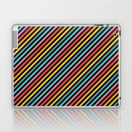 Diagonal Lines on Black Laptop & iPad Skin