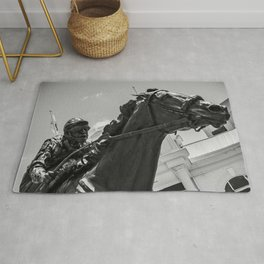 Horse and Rider Rug