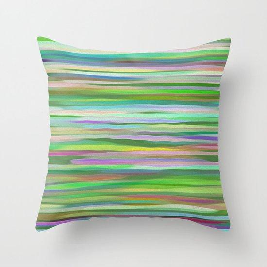 Swimming Stripes Throw Pillow