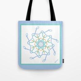 Lullaby Mandala - Blue Teal Tote Bag
