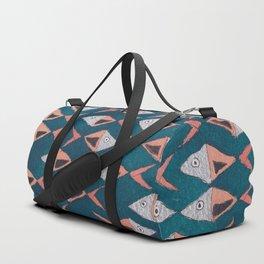 School of Fish Pattern Duffle Bag