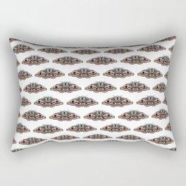 light grey moth Rectangular Pillow