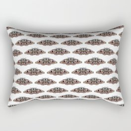 light grey moth Rectangular Pillow