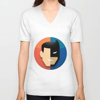 heroes V-neck T-shirts featuring Heroes by Evan Gaskin